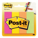 POSTIT PAGE MARKERS 1x3 NEON