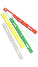 RULER PLASTIC 12 IN CHAR 80412