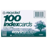 3X5 RECYCLED INDEX CARDS